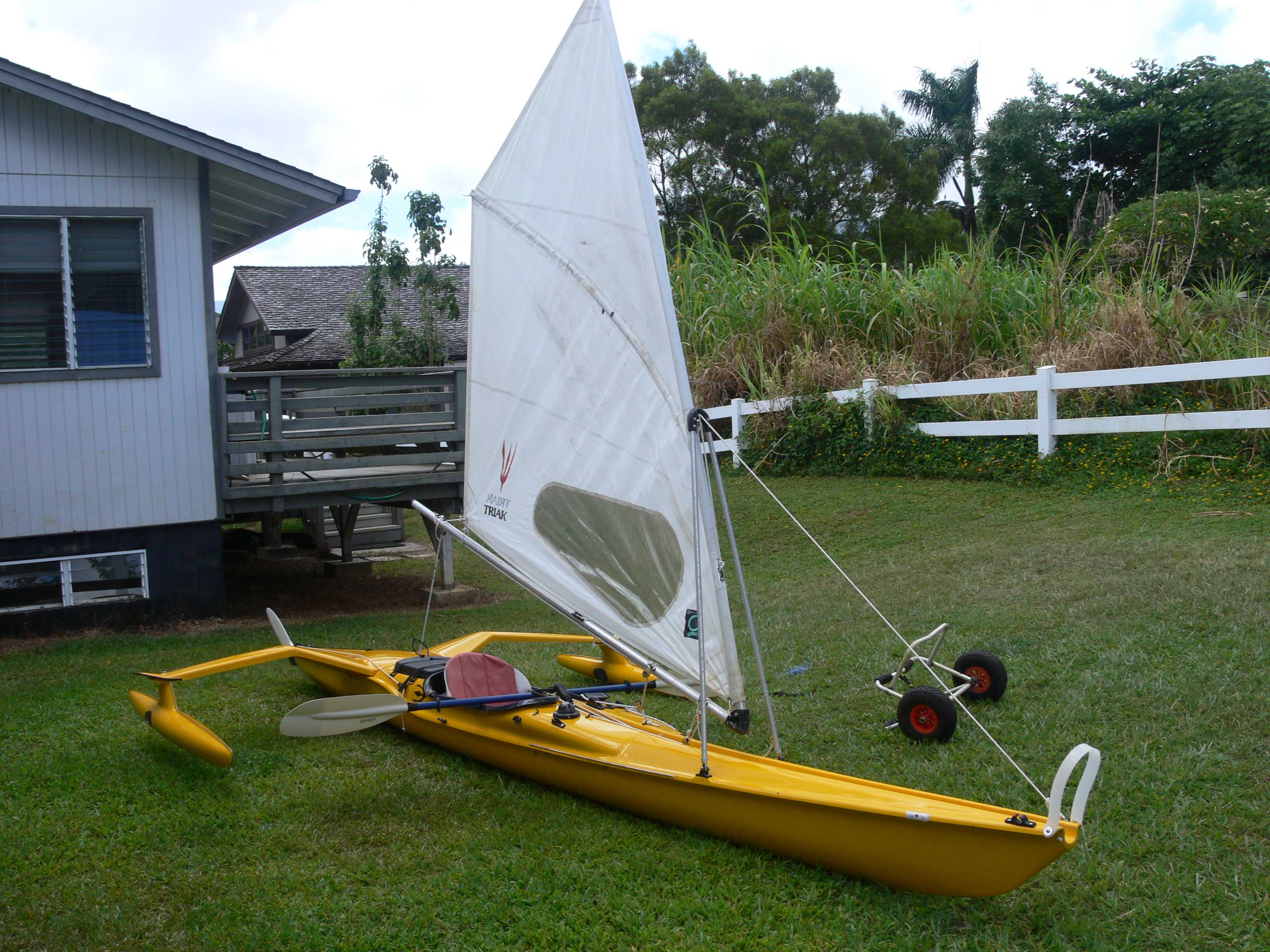 Triak - Sailing Kayak   OCPaddler com